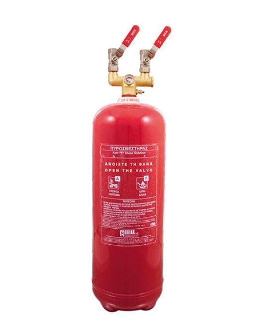 Πυροσβεστήρας Wet Chemical 6Lt F Class Τοπ. Εφαρμ. 2 Βάνες