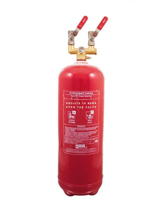 Πυροσβεστήρας Wet Chemical 9Lt F Class Τοπ. Εφαρμ. 2 Βάνες