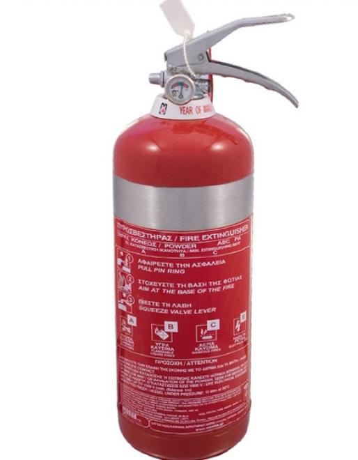 Πυροσβεστήρας 3Kg Ξηράς Σκόνης INOX