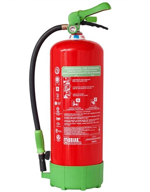 Πυροσβεστήρας 9Lt Οικολογικού Αφρού με Μεταλλική Βάση