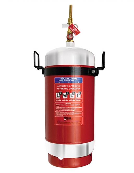 Πυροσβεστήρας 25Kg Ξηράς Σκόνης Τοπ. Εφαρμ. INOX