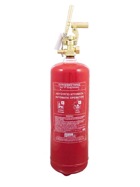 Πυροσβεστήρας Wet Chemical 9Lt F Class Τοπ. Εφαρμ. Θέση για Πυροκρ.