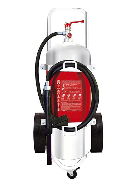 Τροχήλατος Πυροσβεστήρας 25Lt Αφρού INOX