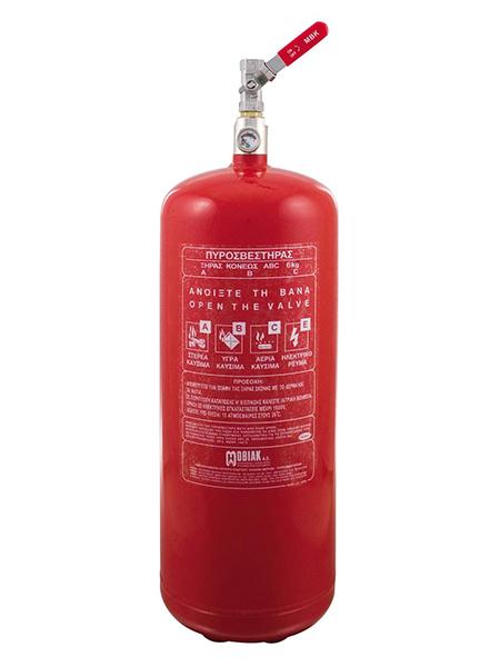 Πυροσβεστήρας 6Kg Ξηράς Σκόνης Τοπ. Εφαρμ. 1 Βάνα