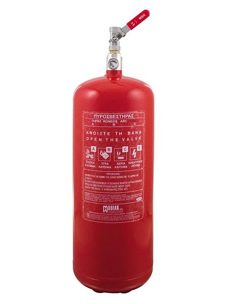 Πυροσβεστήρας Ξηράς Σκόνης 12Kg Τοπ. Εφαρμ. 1 Βάνα