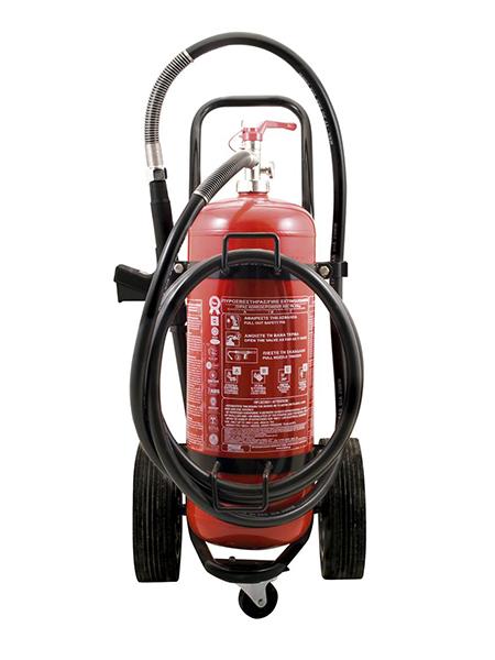 Τροχήλατος πυρ/ρας 100Kg Ξηράς κόνεως