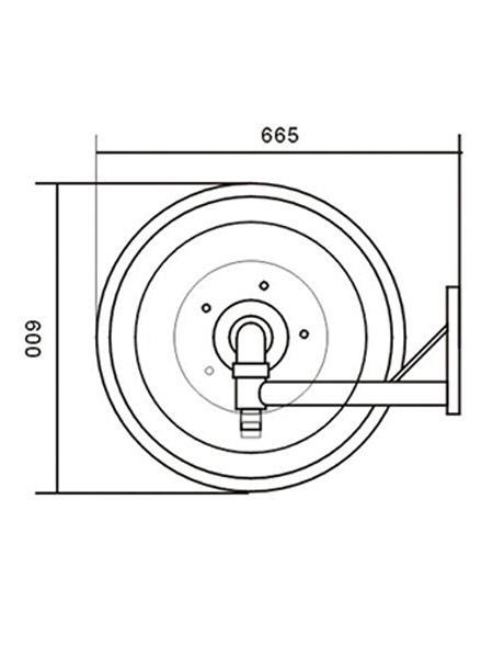"""Επιτοίχια Αυτόματη Περιστρεφόμενη Ανέμη με ενσωμ. μανόμετρο – Σωλήνα 3/4"""""""