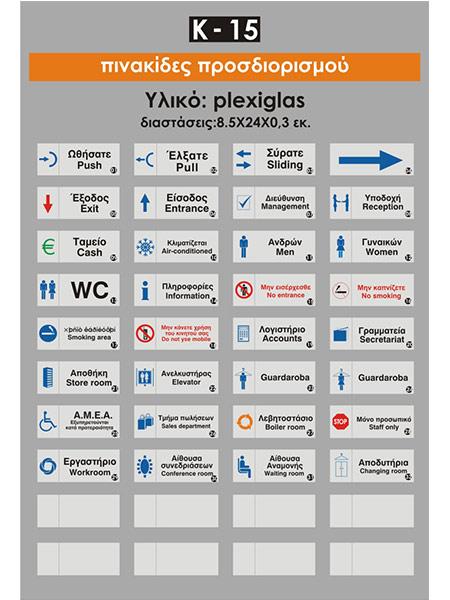 Πινακίδες προσδιορισμού πλέξιγκλας