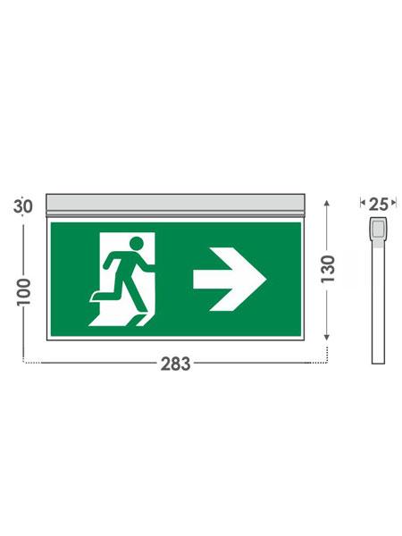 Φωτιστικό Σήμανσης LED εξόδου